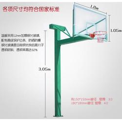 篮球架_标准固定式成人用篮球架_奥成体育(优质商家)图片