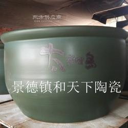 创新陶瓷大缸 手绘陶瓷洗浴缸 多彩温泉澡缸图片