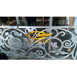 别墅背景墙铝屏风-焦作市铝屏风-金属花格图片