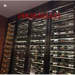 恒温酒柜-呼伦贝尔不锈钢酒柜-深圳不锈钢酒柜安装图片