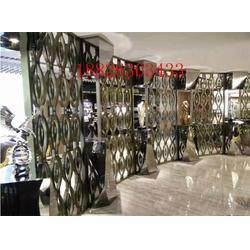 大同不锈钢屏风-晋中市不锈钢屏风-金属花格隔断(多图)图片