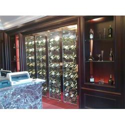 不锈钢酒柜、不锈钢红酒柜定做、餐厅别墅酒柜(多图)图片