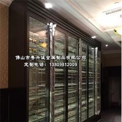 苏州市不锈钢红酒柜、展示柜、餐厅不锈钢红酒柜图片