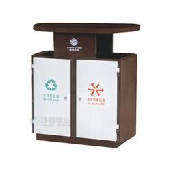 户外分类冲孔小区钢制垃圾桶、钢制垃圾箱、日喀则钢制垃圾桶图片