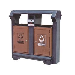户外分类冲孔小区钢制垃圾桶|钢制垃圾箱|兰州钢制垃圾桶图片