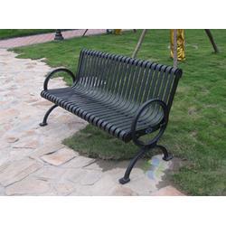 柳州公园椅_环泰桶业_学校带靠背pvc塑木园林公园椅图片