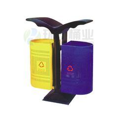 环泰桶业、西安钢制垃圾桶、座地式分类景区钢制垃圾桶图片