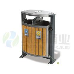 方形带烟灰缸分类钢木垃圾桶、毕节钢木垃圾桶、环泰桶业(多图)图片