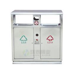 盐亭县不锈钢垃圾桶、环泰桶业(优质商家)、不锈钢垃圾桶订做图片