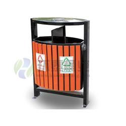日喀则钢木垃圾桶|环泰桶业|不锈钢包边分类钢木垃圾桶图片