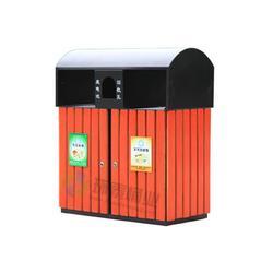 兴义钢木垃圾桶_环泰桶业_推拉式户外分类钢木垃圾桶图片