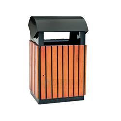 桂林钢木垃圾桶,钢木垃圾箱,万德福木纹分类钢木垃圾桶的图片