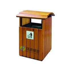 德澜仕木纹户外分类钢木垃圾桶批_眉山钢木垃圾桶_环泰桶业图片