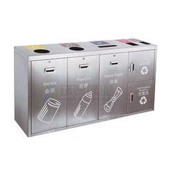 韶山不锈钢垃圾桶、环泰桶业、五色分类不锈钢垃圾桶图片