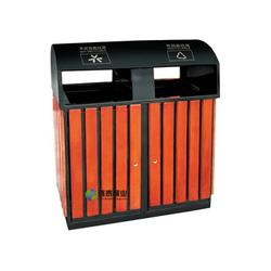 固原钢木垃圾桶|方形带烟灰缸分类钢木垃圾桶品牌|环泰桶业图片
