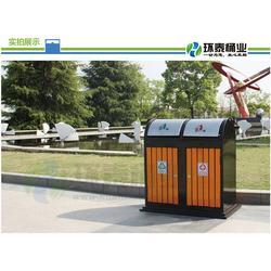 不锈钢包边分类钢木垃圾桶|清镇钢木垃圾桶|环泰桶业(图)图片