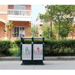 建瓯钢制垃圾桶,户外平口式学校钢制垃圾桶,环泰桶业图片