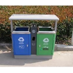 户外分类冲孔小区钢制垃圾桶   湛江钢制垃圾桶 环泰桶业图片