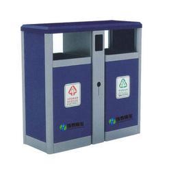 景德镇钢制垃圾桶_环泰桶业_景区分类钢制垃圾桶图片
