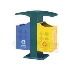 环泰桶业-拉萨钢制垃圾桶-德澜仕分类街道钢制垃圾桶图片