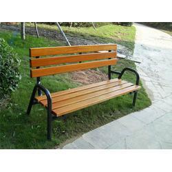 广州户外椅|环泰桶业|户外园林无靠背铸铁脚休闲户外椅图片