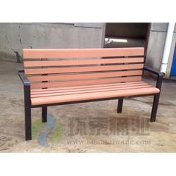 社区带靠背pvc塑木园林公园椅,常宁公园椅,环泰桶业(多图)图片
