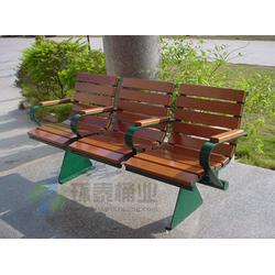 海口景区椅|景区凳|带靠背pvc塑木园林景区椅图片