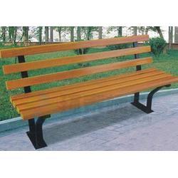 利川公园椅|环泰桶业|景区无靠背南方松防腐木公园椅图片