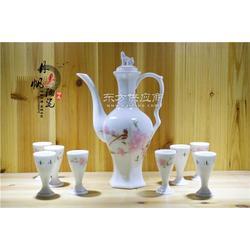陶瓷水点桃花酒具丹帆厂家图片