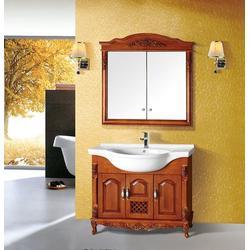 盘山县实木浴室柜,港姿洁具,实木浴室柜图片