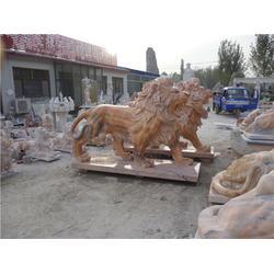 墓地石狮子_爱强石雕(在线咨询)_石狮子图片
