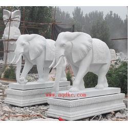 别墅门前石雕大象、石雕大象、爱强石雕图片