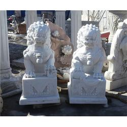 石狮子石雕一对-石狮子-爱强石雕(查看)图片