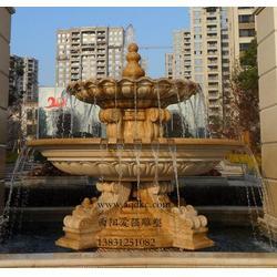 石雕喷泉|爱强石雕|石雕喷泉两层图片