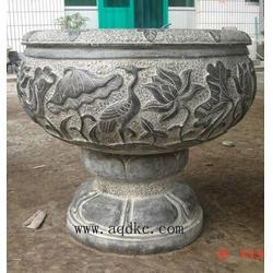 河北石雕花盆|爱强石雕|别墅石雕花盆图片