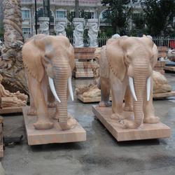 石雕大象公母怎么区分、爱强石雕、河北石雕大象图片
