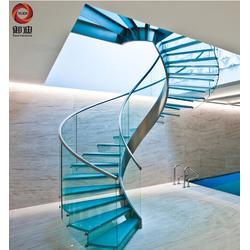 御迪五金制品(图)、玻璃楼梯定制、江苏玻璃楼梯图片