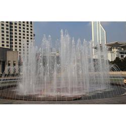 室外喷泉省时生料_滨海新室外喷泉_段氏园林喷泉制作图片