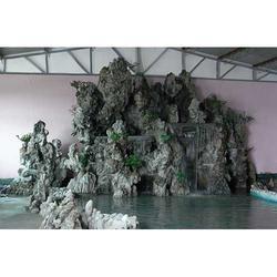 赞皇县假山制作,河北段氏古建园林,假山图片