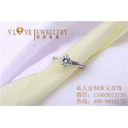 定制白金戒指多少钱、天河定制白金戒指、慧莱珠宝图片