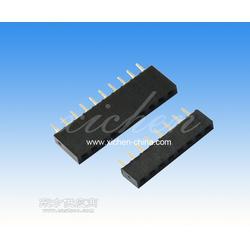 2.54间距排母 单排180度 塑高H3.5mm-5.0mm-7.1mm-8.5mm-11mm U型图片