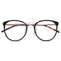 板材眼镜架黑玳瑁色图片