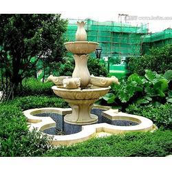 正方园林玻璃钢花盆-砂岩喷泉-大象鼻子砂岩喷泉雕塑图片