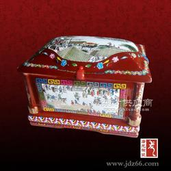 迁坟陶瓷骨灰盒定做,陶瓷骨灰盒图片