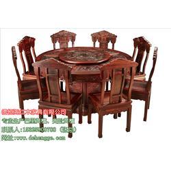 巴里黄檀汉宫餐桌七件套、天津巴里黄檀、德恒阁红木家具品质优图片