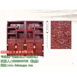 花枝_花枝雕山水顶箱柜_德恒阁红木家具图片