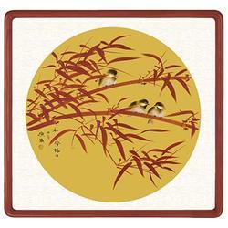 瓷板画背景墙 青花瓷典科技图片