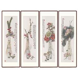 山西四条屏瓷板画|青花瓷典科技|四条屏瓷板画拍卖图片