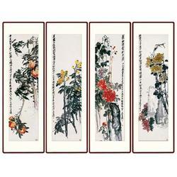 河南瓷板画|青花瓷典科技(在线咨询)|四条屏瓷板画图片