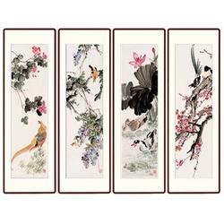 四条屏瓷板画 青花瓷典科技(图) 四条屏瓷板画图片